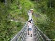 Hängebrücke über die Salza