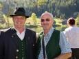 Weisenblasen am Hubertussee in der Walstern - Bgm. Michael Wallmann und Bgm. Manfred Seebacher