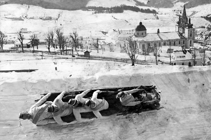 Bobrennen 1913 in Mariazell, Foto Kuss