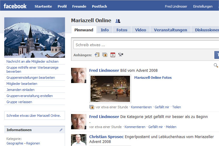 Mariazell Online Facebook