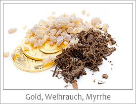 Gold-Weihrauch-Myrrhe