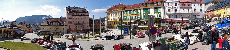 Morgan Jahrestreffen am Hauptplatz in Mariazell