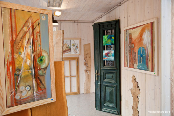 """Sophie Sima - Ausstellung """"Tür und Tor"""" - Holzwerkstatt Halltal"""