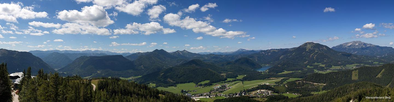Blick von der Aussichtswarte - Panoramablick ins Mariazellerland