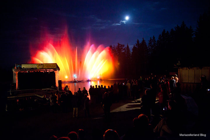 Falco Tribute - Wassershow bei der Bergwelle