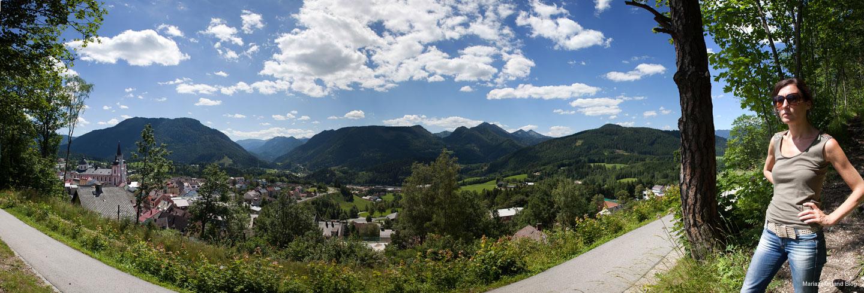 Am Fusse der Bürgeralpe, Blick auf Mariazell