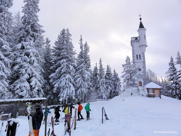 Aussichtswarte auf der Bürgeralpe - Skisaison Opening