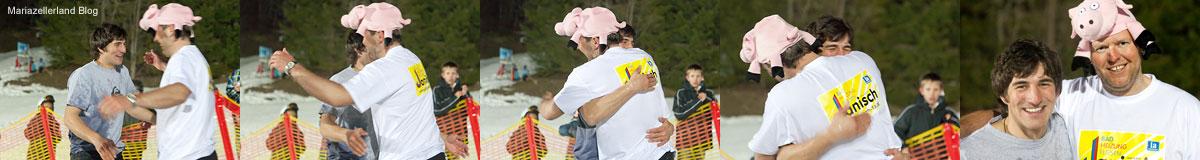 Waterslide Contest Annaberg - Sieger und Zweitplazierter sind glücklich