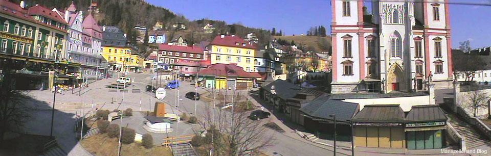 Webcam Mariazell - Hauptplatz mit Basilika