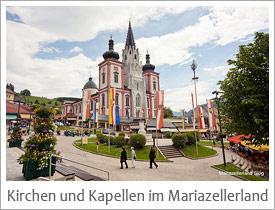 Kirchen und Kapellen im Mariazellerland