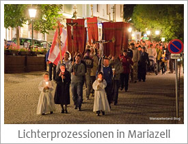 Lichterprozession in Mariazell