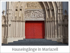 Hauseingänge in Mariazell