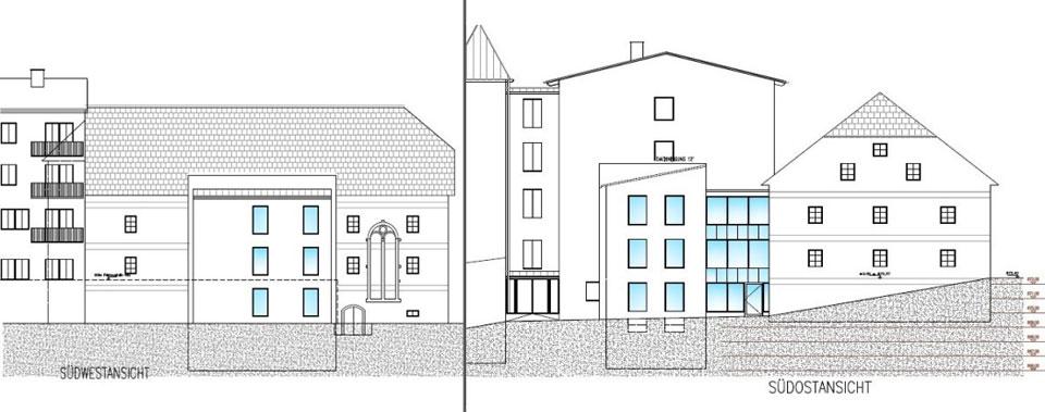Heimathaus Zubau Plan