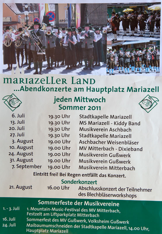 Abendkonzerte Mariazell Termine