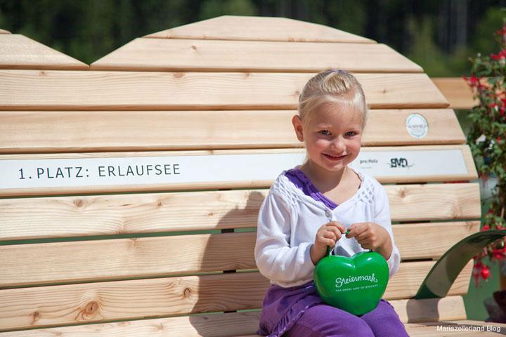 Steiermark Bankerl am Erlaufsee als Fotopunkt