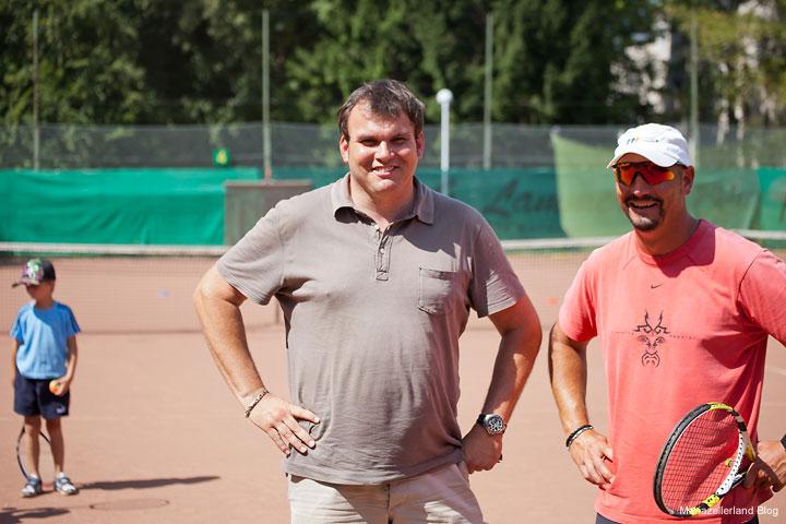 Michael Oberrauter (UTC Mariazell) und Tennislehrer Patrick Schmidt