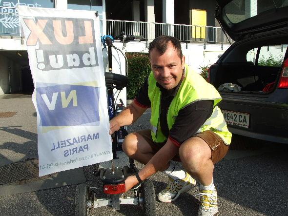 Elektro-Bikeboard Zusammenbau am Morgen