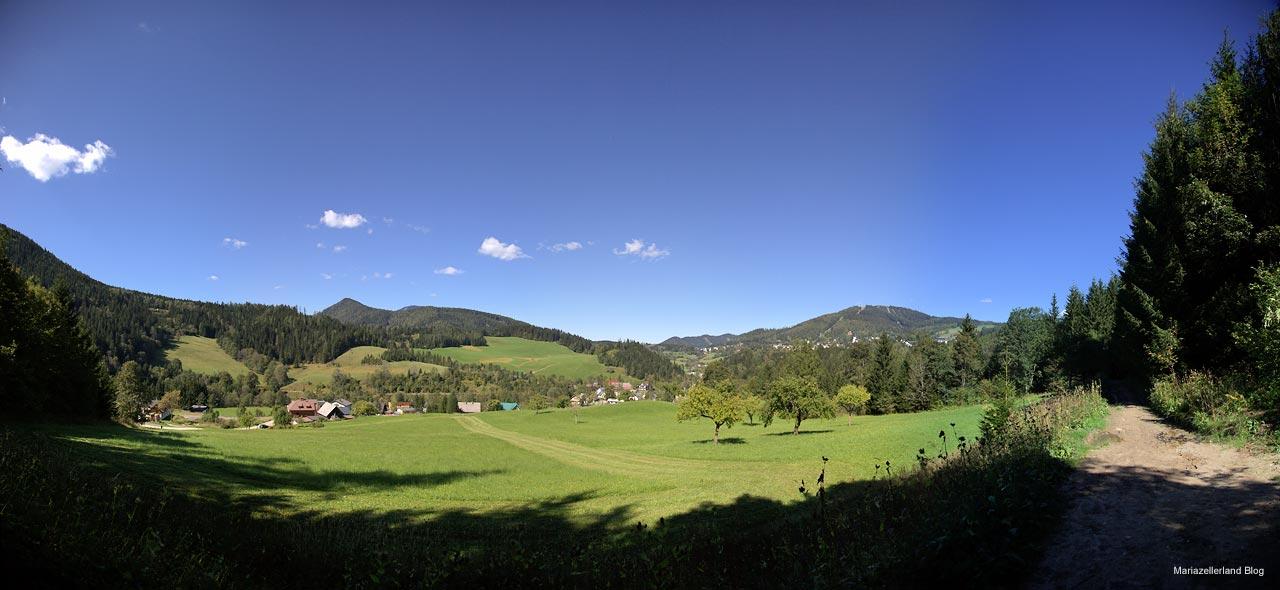 Ausblick am Rundwanderweg Mariazell-Gußwerk