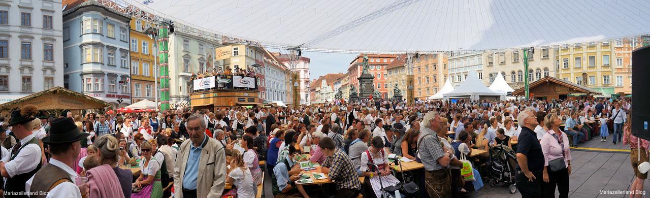 Hauptplatz Graz war Mariazellerland beim Aufsteirern 2011