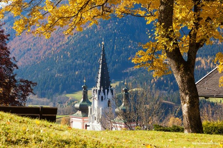 Mariazell Basilika im Herbst