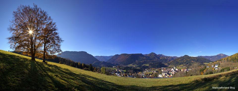 Mariazellerland Panorama im Herbst - 28.Oktober 2011