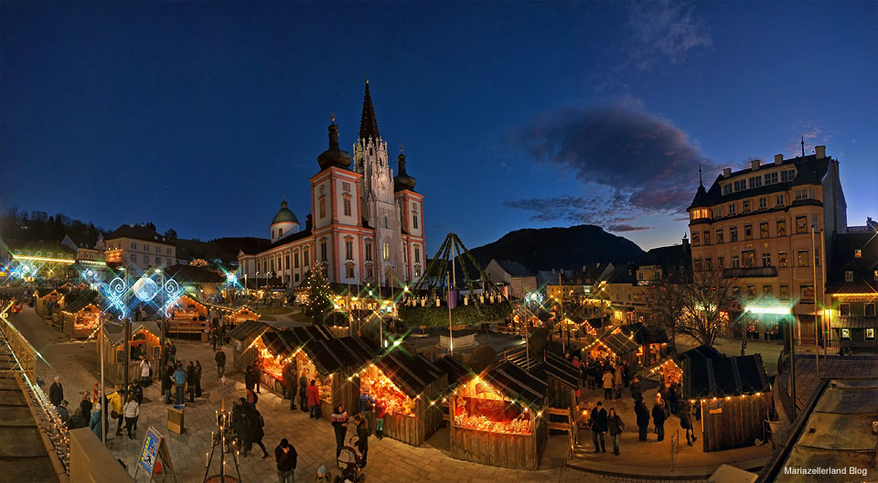 Advent in Mariazell - Hauptplatz am 1. Adventsonntag