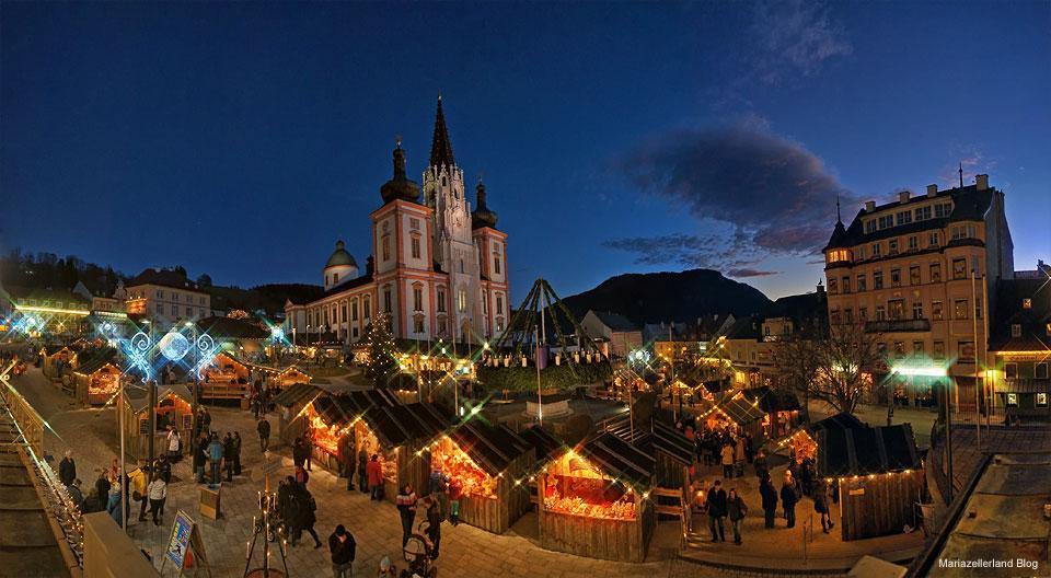 Advent in Mariazell - Hauptplatz am 1. Adventsonntag