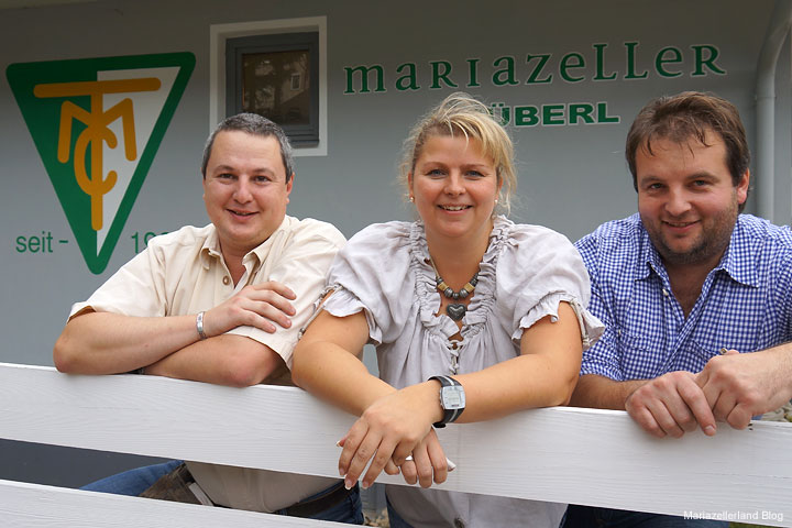 Das Team vom Mariazeller Stüberl - Sproki, Martina und Bernd