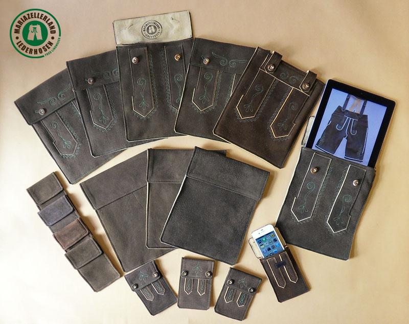 iPAD - iPhone Hüllen aus echtem Hirschleder vom Erfinder - Lederhosen Lindmoser