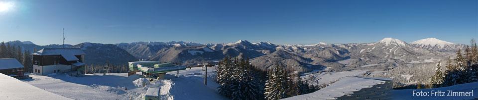 Mariazeller Bürgeralpe Ausblick Panorama von Fritz Zimmerl - 27.1.2012