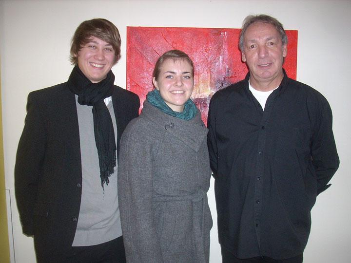 Christoph Pichler, Tina Harant und HS-Mariazell Direktor Egon Schrittwieser