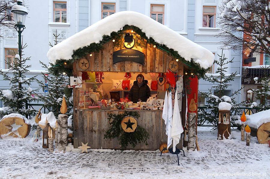 Handdruck-Werkstatt'l - Hütte beim Mariazeller Advent 2012