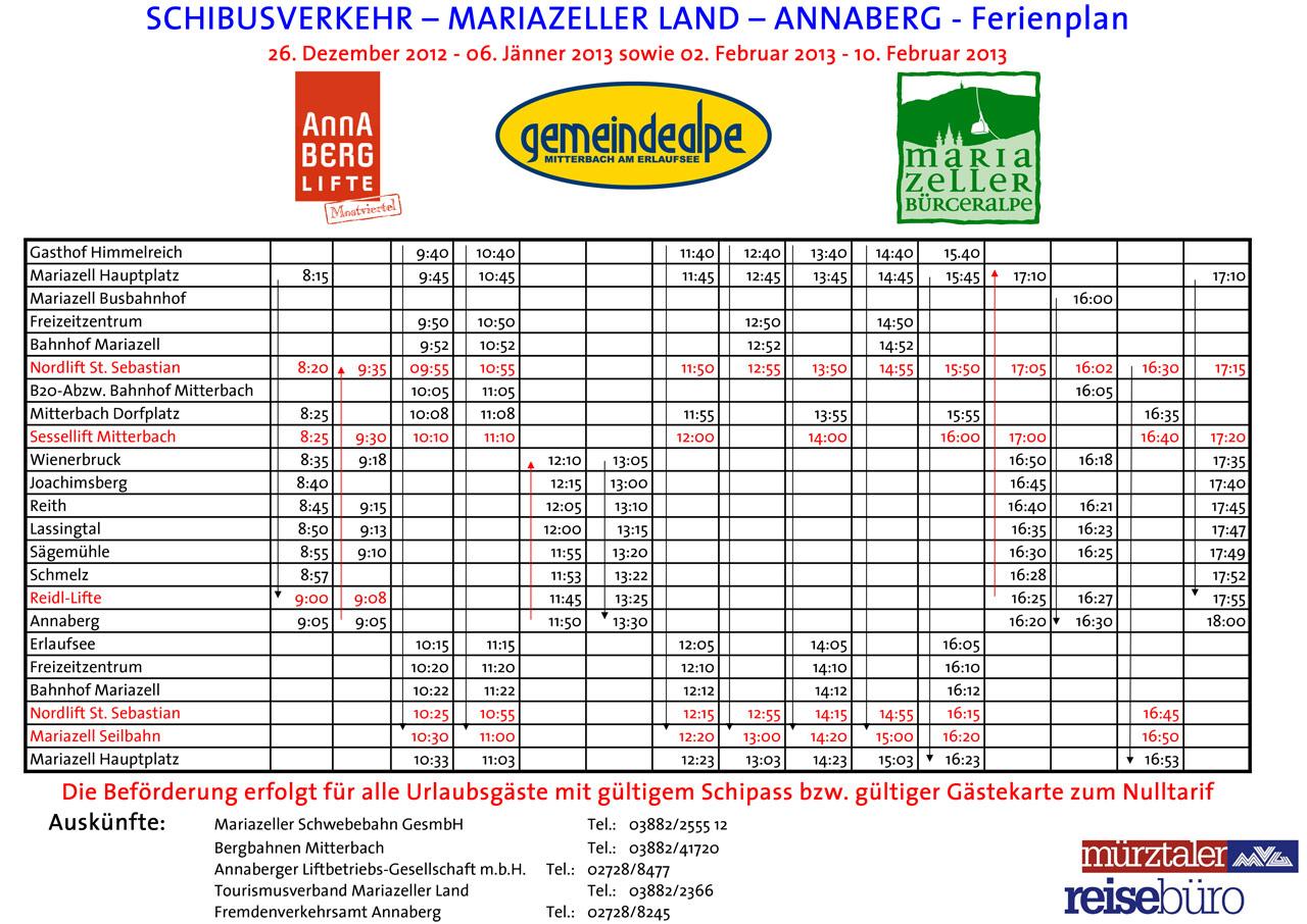 Schibus-2012-2013-Ferienplan Mariazellerland
