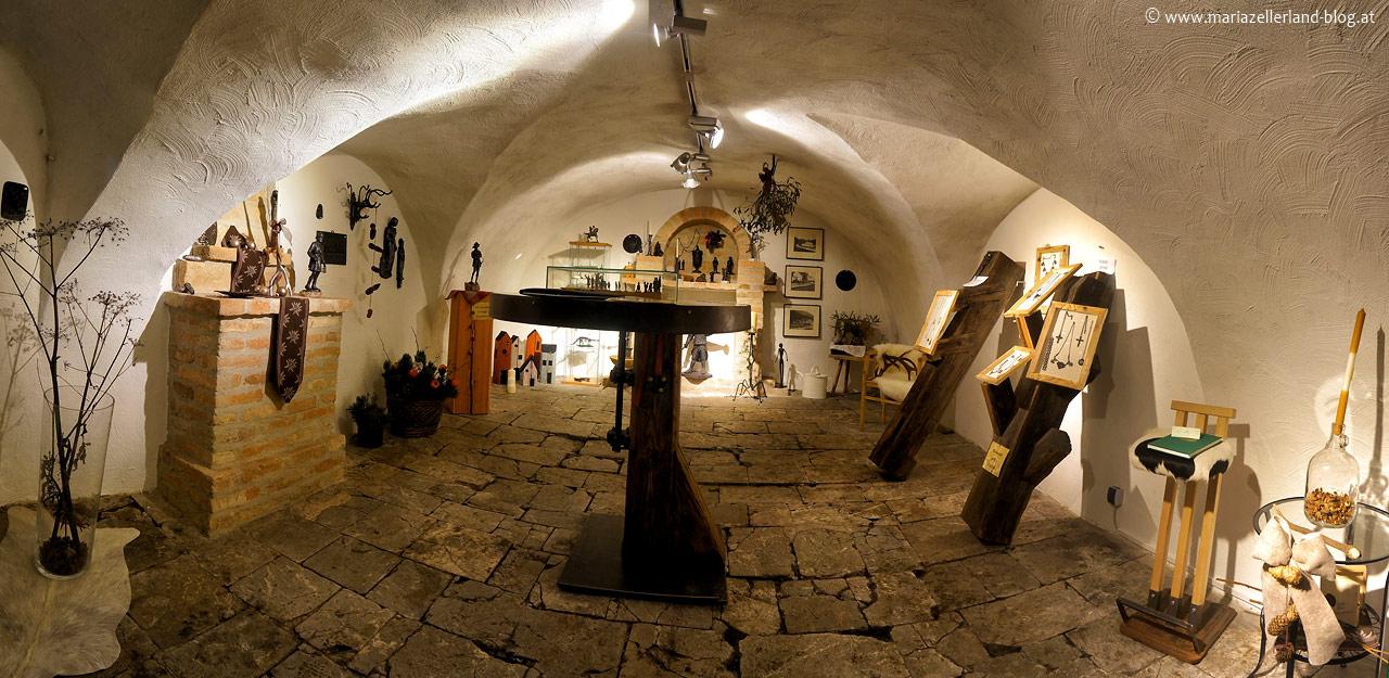 Sportredia-Montanmuseums Schmuckausstellung beim Mariazeller Advent 2012
