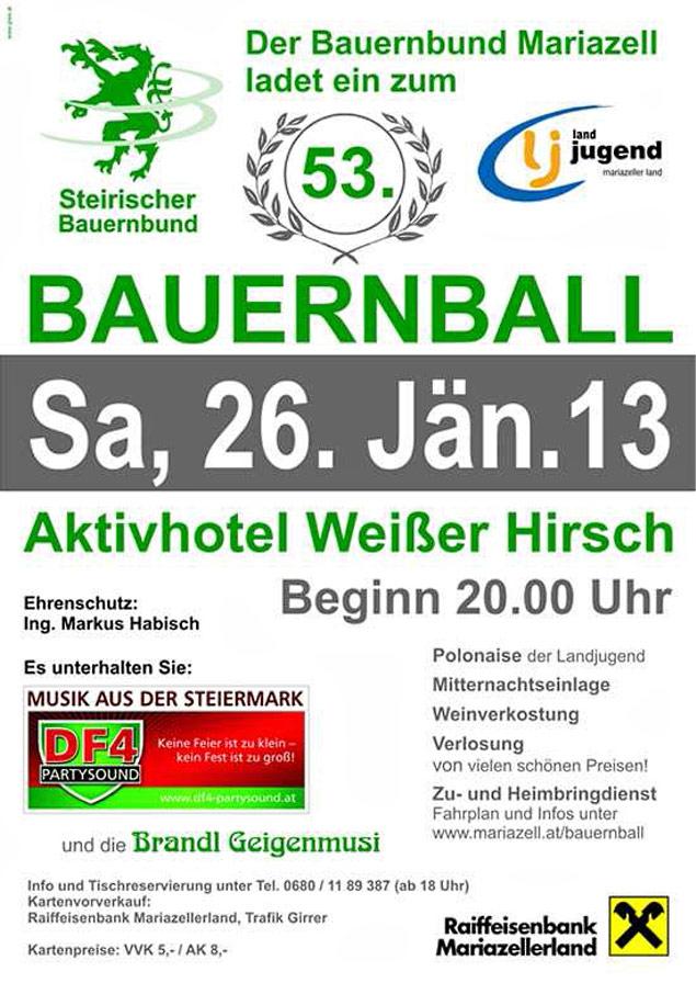 Plakat-Bauernball