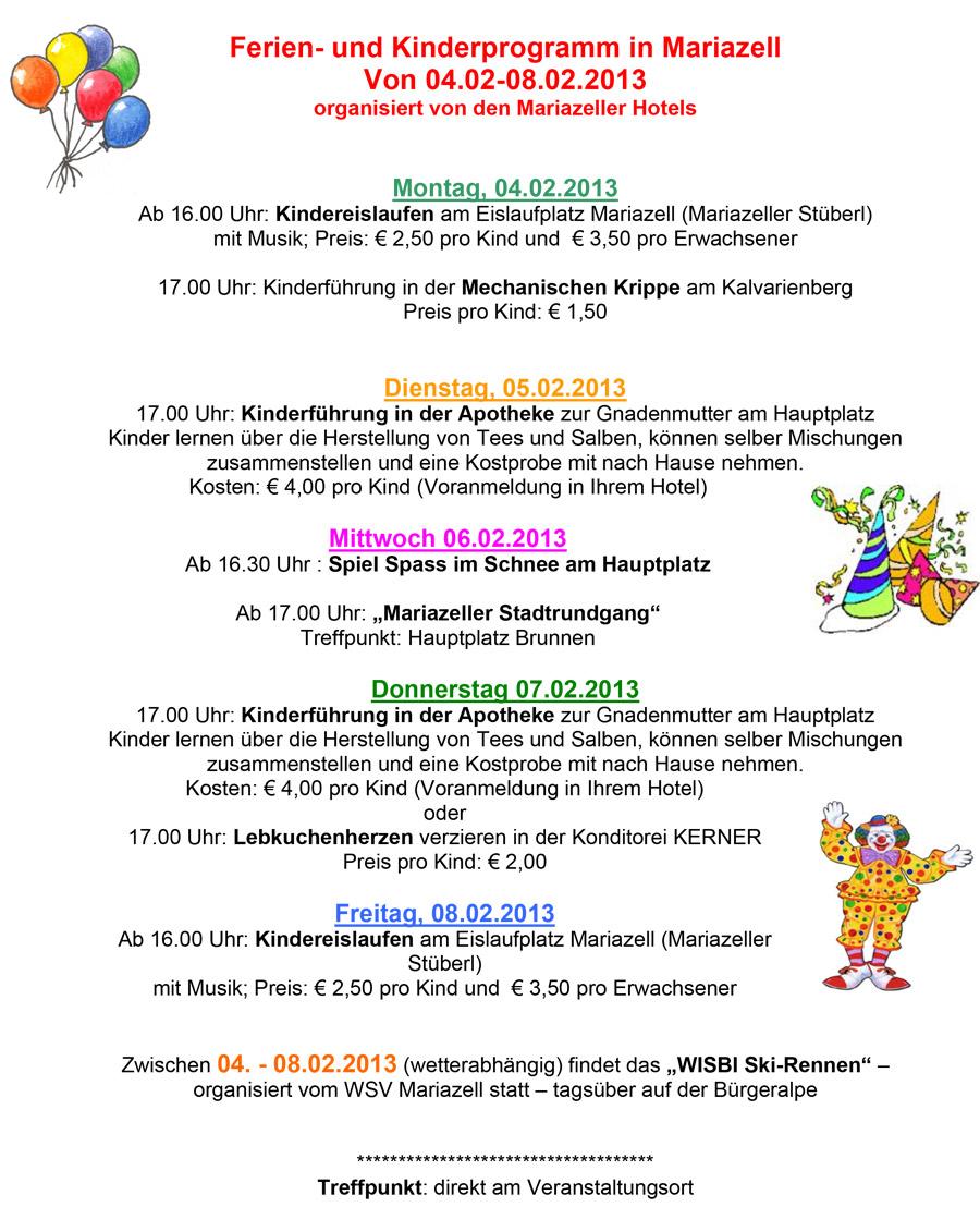 Kinderprogramm-Semester-2013