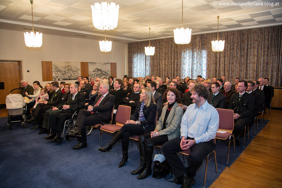 Die Gäste bei der Verleihung der Ehrenbürgerschaft an Matthias Pirker
