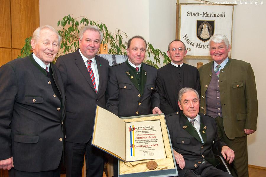 Matthias Pirker - Verleihung der Ehrenbürgerschaft der Stadtgemeinde Mariazell