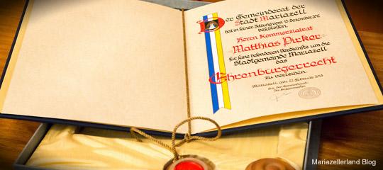 Matthias-Pirker-Ehrenbürger von Mariazell