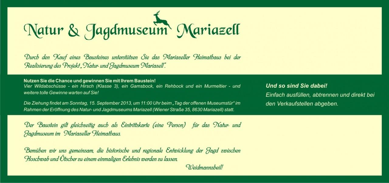Baustein - Natur- und Jagdmuseum Mariazell