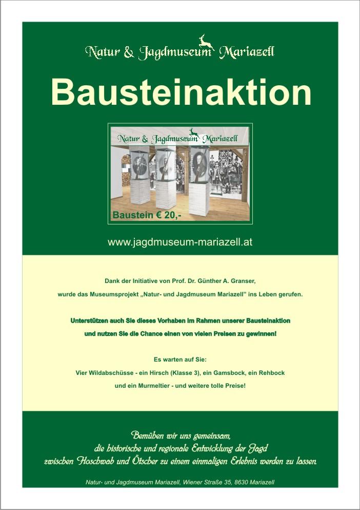 Natur- und Jagdmuseum Mariazell - Bausteinaktion
