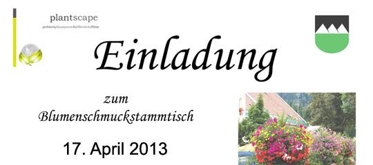 Blumenschmuckstammtisch-Einladung