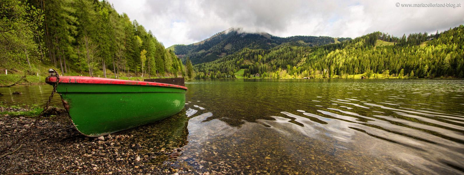 Erlaufsee-Boot-Panorama