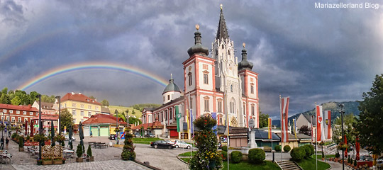Mariazeller-Basilika-Regenbogen-(c)-Mariazellerland-Blog
