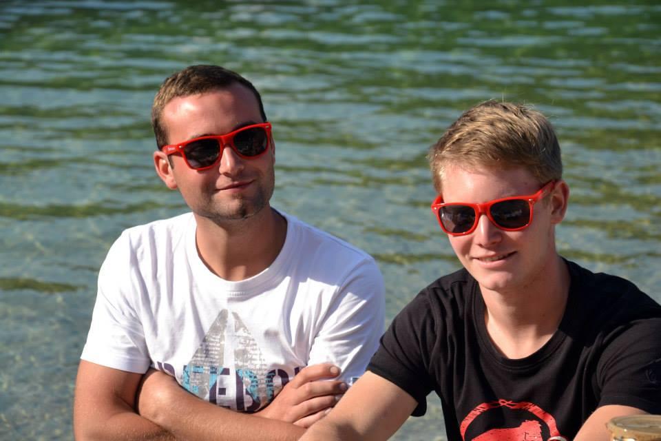 2. Dominic Krejcza und Peter Tributsch- fleißige  Mitarbeiter am Fest
