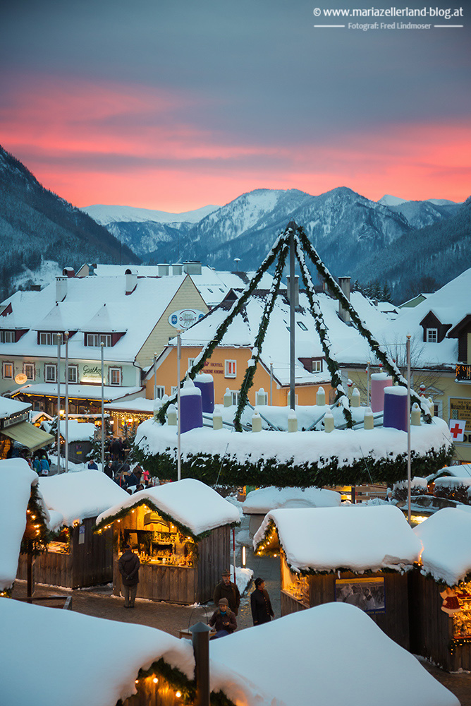 Mariazell-Adventkranz-Abendrot_