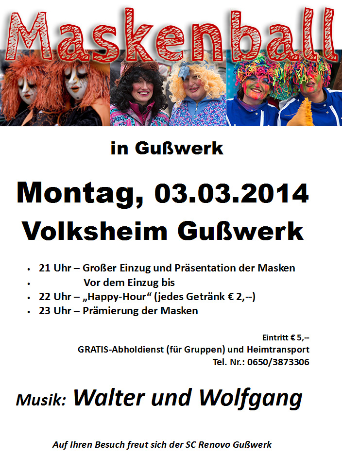 Maskenball Gusswerk 2014