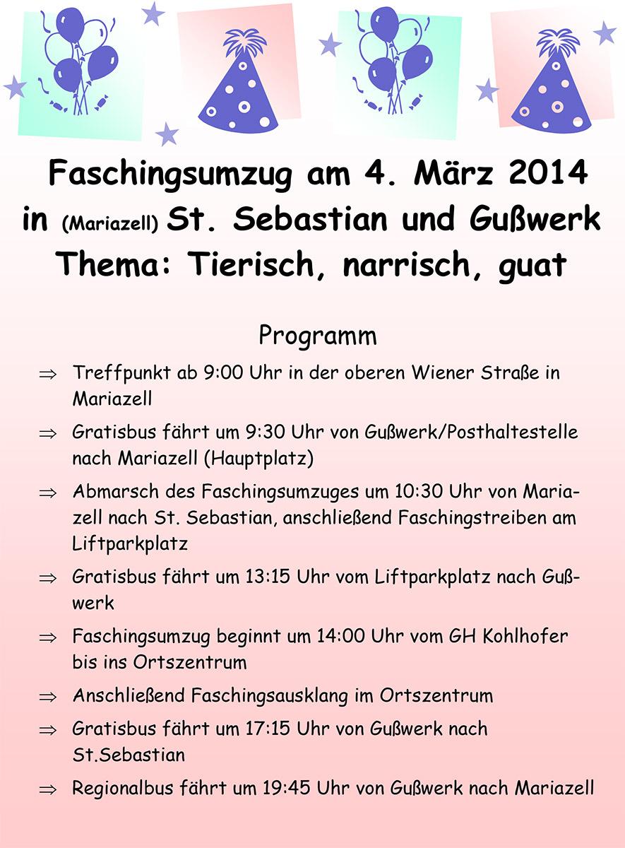 Plakat-und-Postwurf_Fasching-2014_Mariazellerland