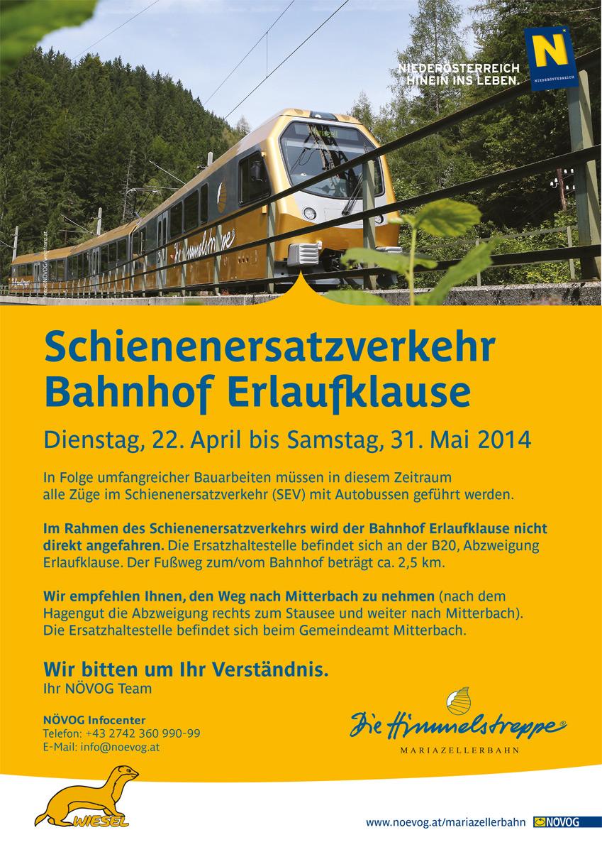 Schienenersatzverkehr-Erlaufklause