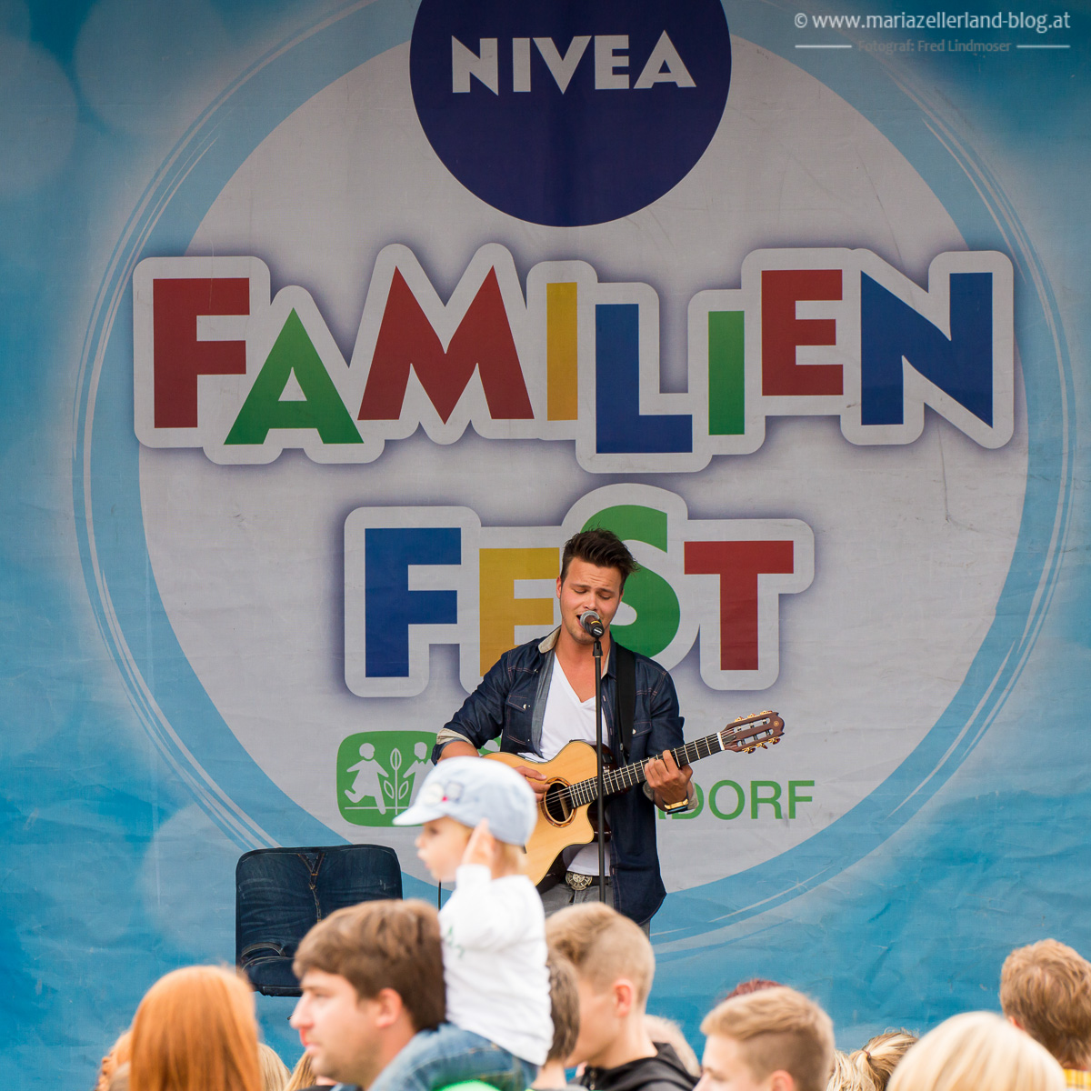 Nivea Familienfest am 12. und 13. Juli in Mariazell - Richi Schöggl auf der Showbühne